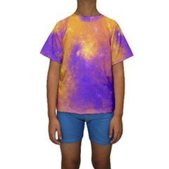 Colorful Universe Kids  Short Sleeve Swimwear