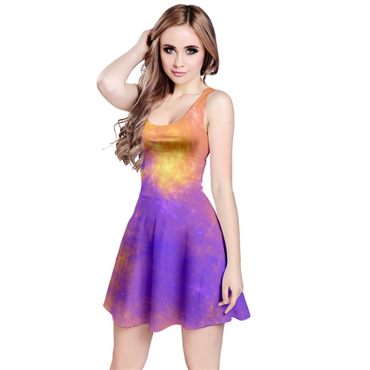 Colorful Universe Reversible Sleeveless Dress
