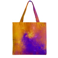 Colorful Universe Grocery Tote Bag