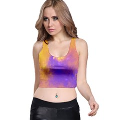 Colorful Universe Racer Back Crop Top