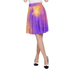 Colorful Universe A Line Skirt