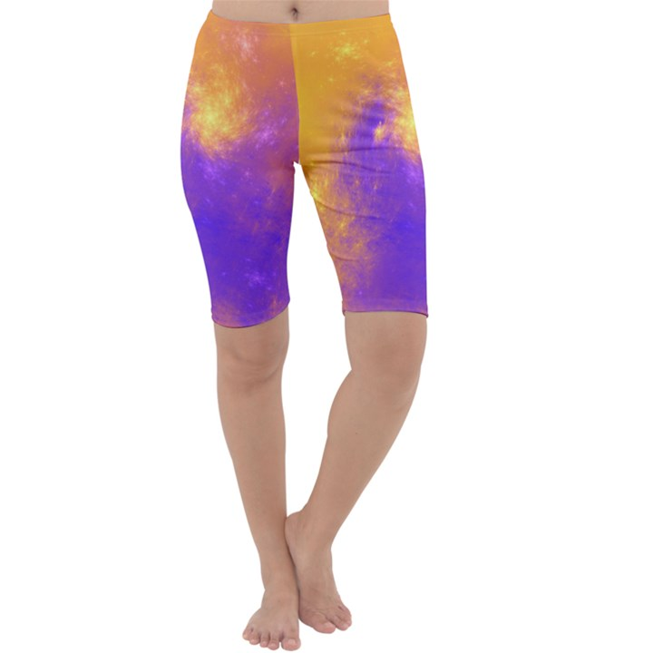 Colorful Universe Cropped Leggings
