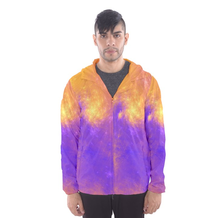 Colorful Universe Hooded Wind Breaker (Men)