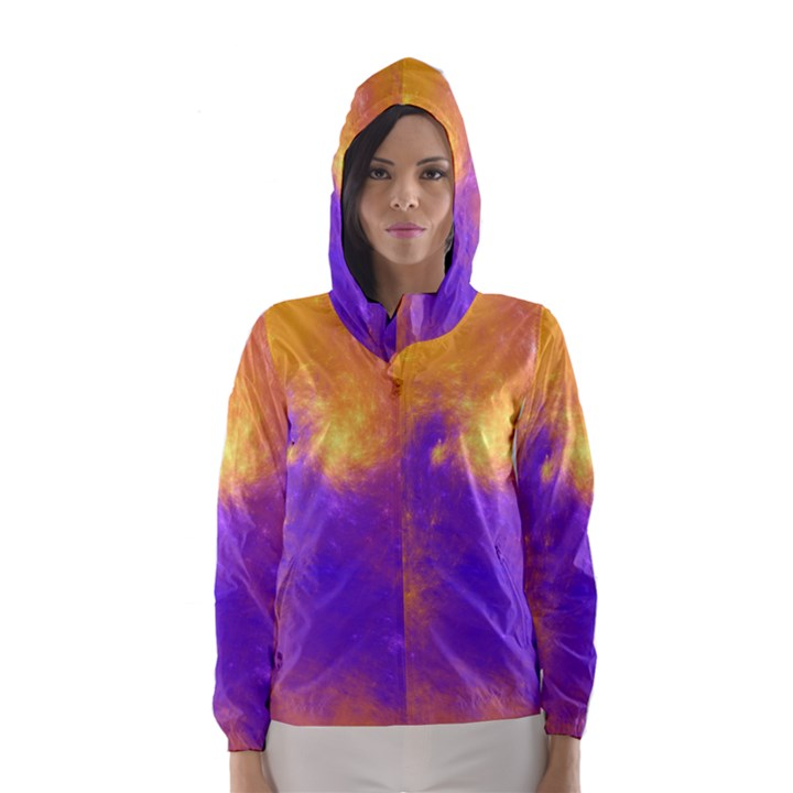 Colorful Universe Hooded Wind Breaker (Women)
