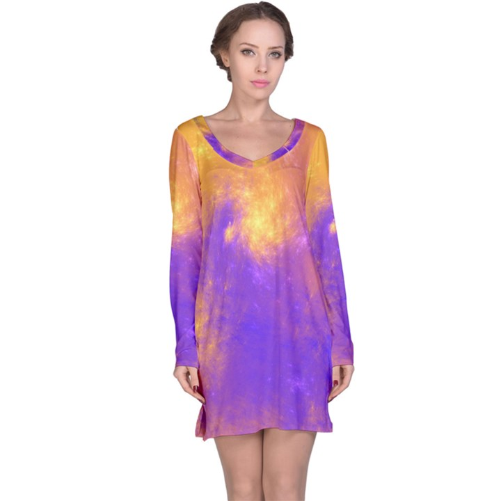 Colorful Universe Long Sleeve Nightdress