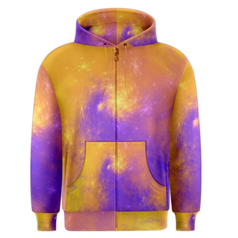 Colorful Universe Men s Zipper Hoodie