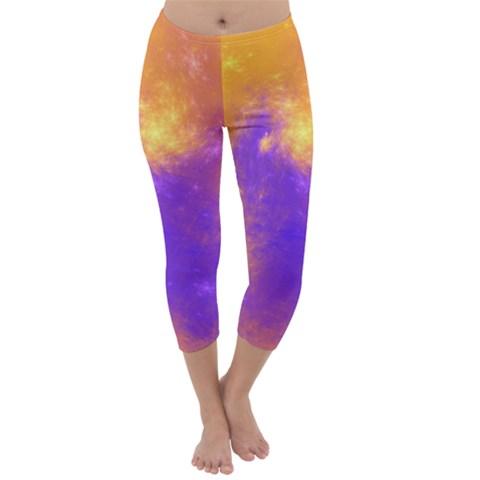 Colorful Universe Capri Winter Leggings