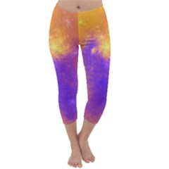 Colorful Universe Capri Winter Leggings
