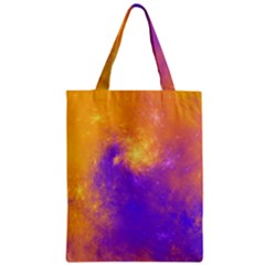 Colorful Universe Zipper Classic Tote Bag