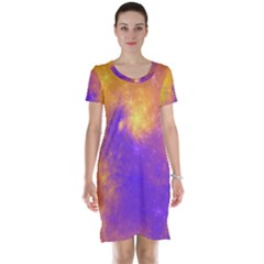 Colorful Universe Short Sleeve Nightdress