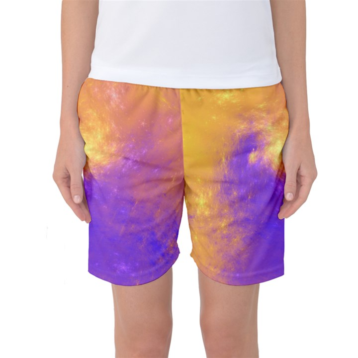 Colorful Universe Women s Basketball Shorts