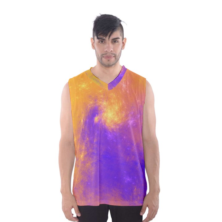 Colorful Universe Men s Basketball Tank Top