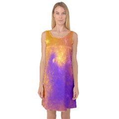 Colorful Universe Sleeveless Satin Nightdress