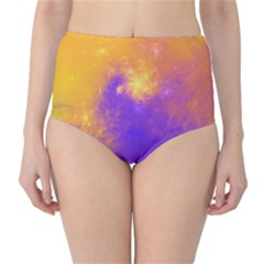 Colorful Universe High Waist Bikini Bottoms