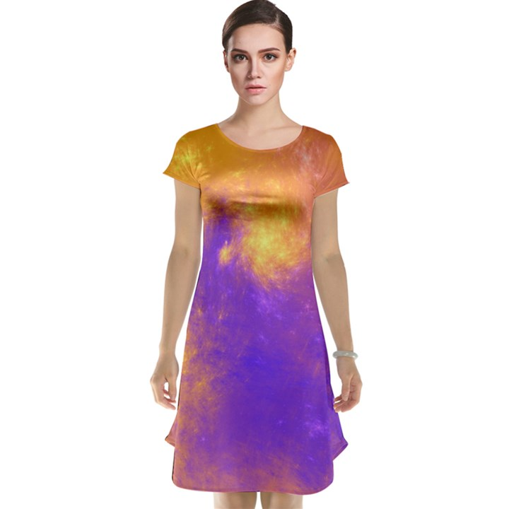 Colorful Universe Cap Sleeve Nightdress
