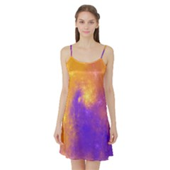 Colorful Universe Satin Night Slip