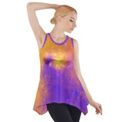 Colorful Universe Side Drop Tank Tunic