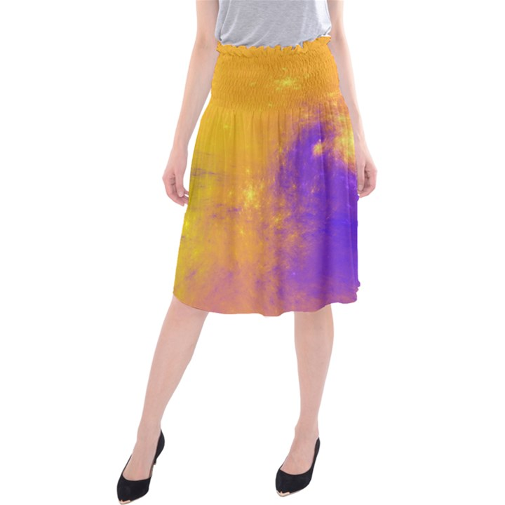 Colorful Universe Midi Beach Skirt