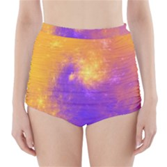Colorful Universe High-Waisted Bikini Bottoms