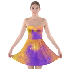 Colorful Universe Strapless Bra Top Dress