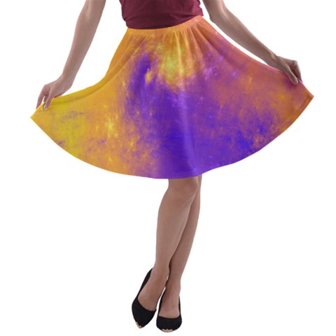 Colorful Universe A-line Skater Skirt