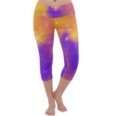 Colorful Universe Capri Yoga Leggings