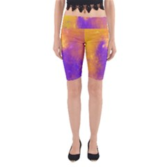 Colorful Universe Yoga Cropped Leggings