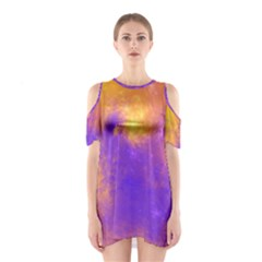 Colorful Universe Cutout Shoulder Dress