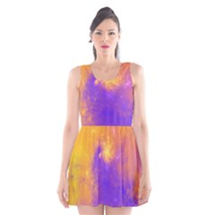 Colorful Universe Scoop Neck Skater Dress