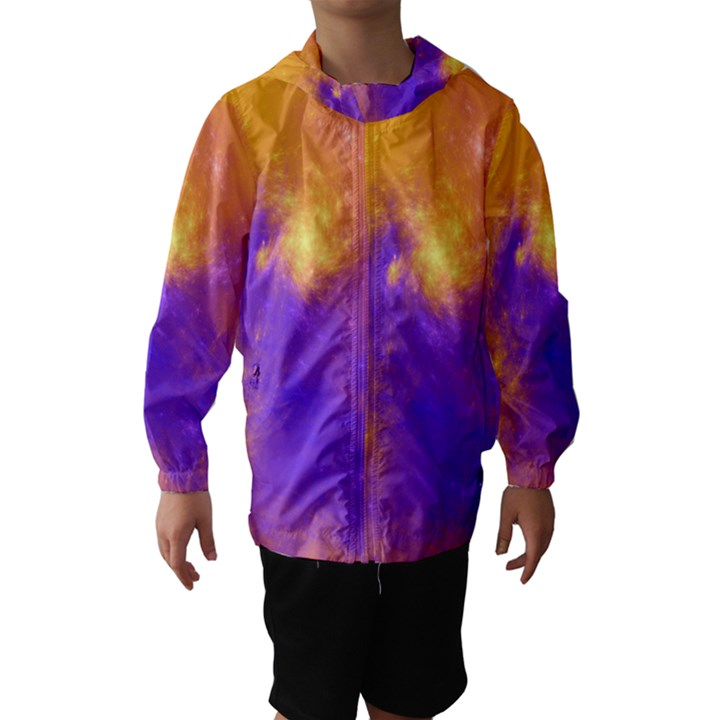 Colorful Universe Hooded Wind Breaker (Kids)