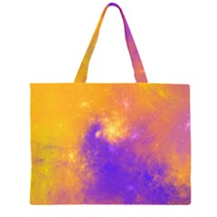 Colorful Universe Zipper Large Tote Bag