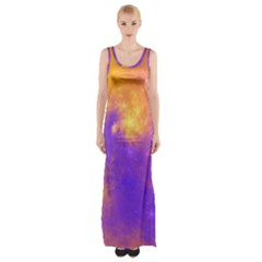 Colorful Universe Maxi Thigh Split Dress