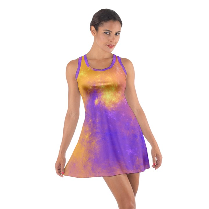 Colorful Universe Cotton Racerback Dress