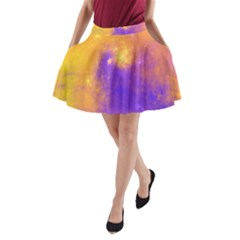 Colorful Universe A Line Pocket Skirt