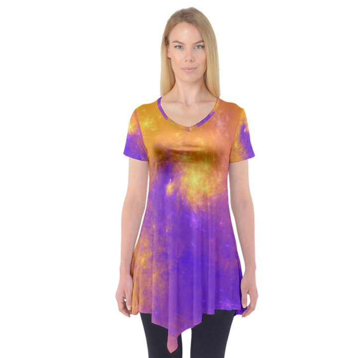 Colorful Universe Short Sleeve Tunic