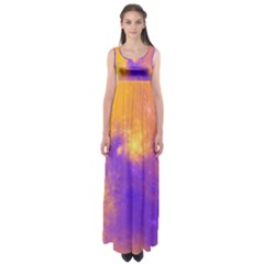 Colorful Universe Empire Waist Maxi Dress