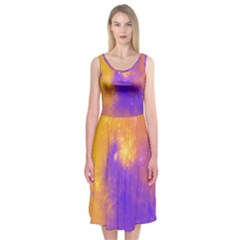 Colorful Universe Midi Sleeveless Dress