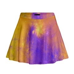 Colorful Universe Mini Flare Skirt