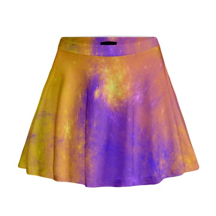 Colorful Universe Mini Flare Skirt