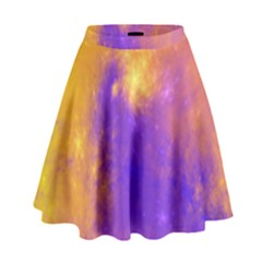 Colorful Universe High Waist Skirt