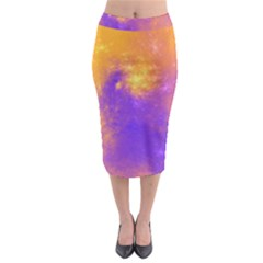 Colorful Universe Midi Pencil Skirt