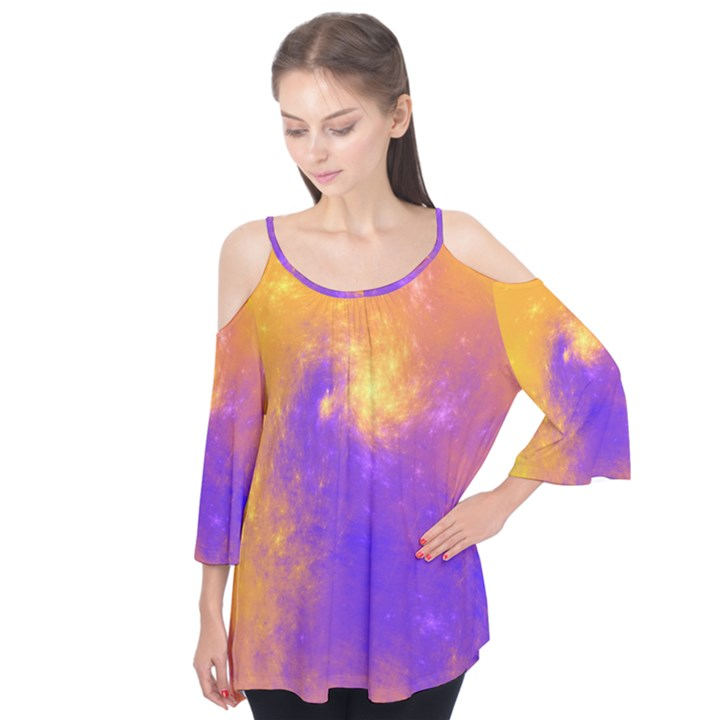 Colorful Universe Flutter Tees