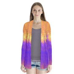 Colorful Universe Drape Collar Cardigan
