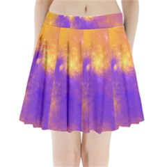 Colorful Universe Pleated Mini Skirt