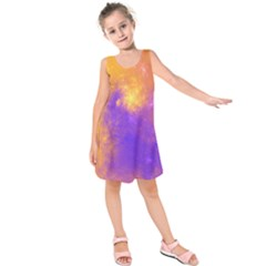 Colorful Universe Kids  Sleeveless Dress