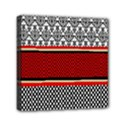 Background Damask Red Black Mini Canvas 6  x 6  View1
