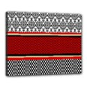 Background Damask Red Black Canvas 20  x 16  View1