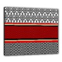 Background Damask Red Black Canvas 24  x 20  View1