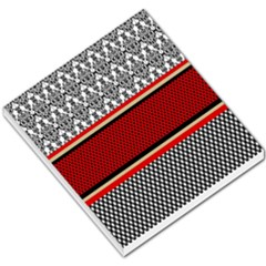 Background Damask Red Black Small Memo Pads