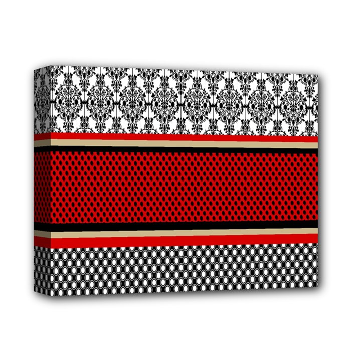 Background Damask Red Black Deluxe Canvas 14  x 11